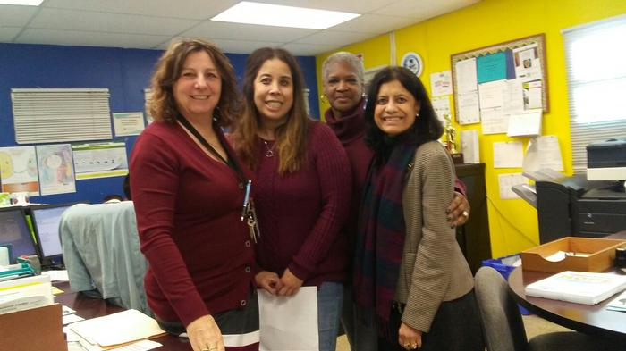 Principal Hammon, Office Manager Ms. Liz, Clerk Ms. Barbara, TL Mrs. Sircar